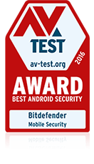 avtest award 2016 best android security bitdefender