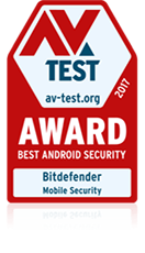 avtest award 2017 best android security bitdefender ms